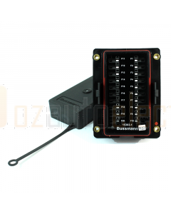 Bussmann 15303-1-6-3 RTMR 15300 Series Rear Terminal Mini Fuse and Relay Panel (Bussed, 20 Mini Fuse, Shallow Cover)