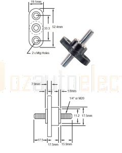 Bussmann C2791 Stud Type Feed Through Junction Block