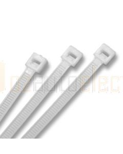 White Cable Ties (100) 4.8 x 200mm
