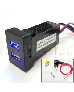 Lightforce CBUSBR USB Dual Outlet Suitable for Lightforce PX2 Ford Ranger Fascia (CBFASCIA)