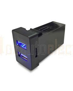 Lightforce Dual USB Outlet In-dash (Hilux/Landcruiser/Prado)