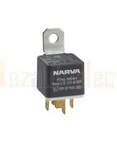 Narva 68044BL 12V 40/30Amp 5 Pin Change-Over Relay Resistor Protection