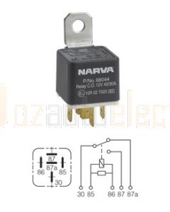 Narva 68048BL 12V 40/30Amp 5 Pin Change Over Relay Diode Protection
