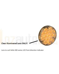 Clear Illuminated LED front direction lens to suit hella 500 series