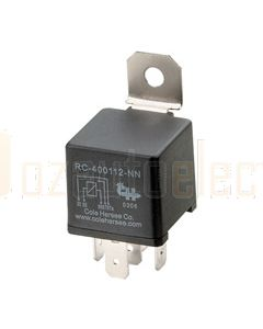 Cole Hersee R2-400112-RN 40A 12V Form 2 Relay, resistor suppression