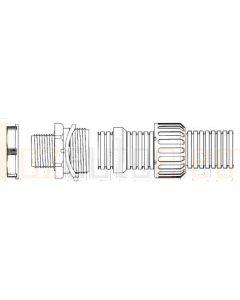 Conduit Gland - Harnessflex Fitting - 12mm Conduit, 16mm Thread (5)