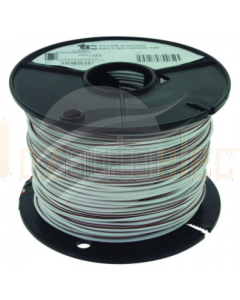 TYCAB 3mm Single Core Cable White Brown 100m