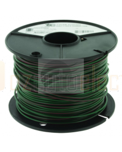 3mm Single Core Cable Green with Red Trace 100m Roll