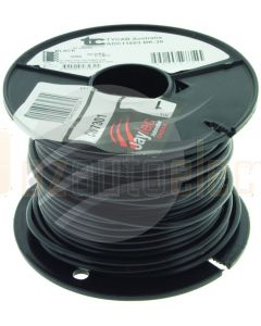 Tycab 3mm Single Core Gas Cable Red with Black outer Sheath 30m