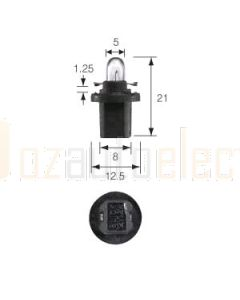 Narva 47762 Dash Panel Globe 12V 1.2W B8.5d (BAX 10d) Black Base (Box of 10)