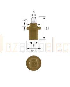 Narva 47766 Dash Panel Globe 12V 1.5W B8.5d (BAX 10d) Beige Base (Box of 10)
