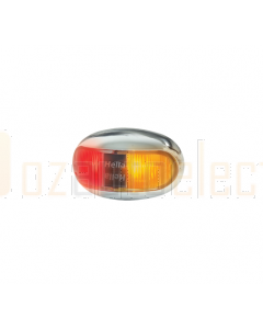 Hella LED Side Marker Lamp Amber/ Red 8-28V Chrome Hsng 500mm Cable