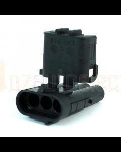 Delphi 12010717 3 Way Black Weather Pack Shroud Sealed Male Connector (Bag of 10)