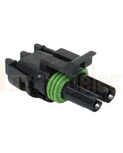 Delphi 12015792 2 Way Black Weather Pack Tower Sealed Female Connector Assembly