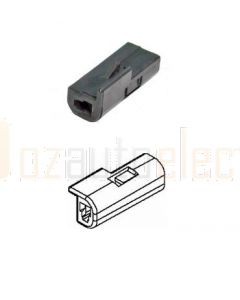 Delphi 12047682 1 Way Black Metri-Pack 150 Unsealed Female Connector, Max Current 14 amps