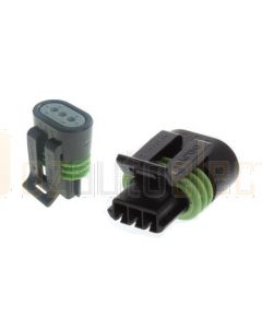 Delphi 12162185 3 Way Black Metri-Pack 150.2 Sealed Female Connector Assembly