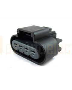 Delphi 13521459 4 Way Black GT 280 Sealed Female Connector Assembly, Max Current 25 amps