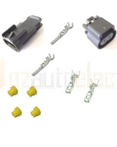 Delphi 2 Way Black GT 280 Series Connector Kit