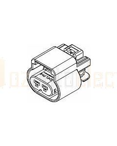 Delphi 13518845 2 Way Black GT 280 Sealed Female Connector Assembly, Max Current 25 amps