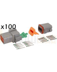 Deutsch DT Series 8 Pin Connector Kit (Box of 100)