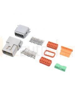 Deutsch DT12-3 12 Way Connector Kit with Nickel Contacts