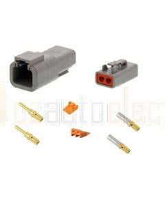Deutsch DTP Series 2 Pole Connector Kit - Gold Contacts