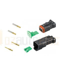 Deutsch DT2-4-CAT 2 Way CAT Spec Connector Kit with Gold Contacts