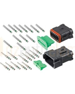 Deutsch DT12-1-CAT 12 Way DT Series CAT Spec Connector Kit with Green Band Contacts