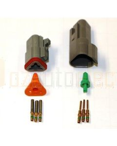 Deutsch DT3-4 3 Way Connector Kit with Gold Contacts