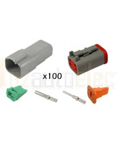 Deutsch DT Series 4 Pin Connector Kit (Box of 100)