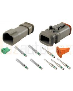 Deutsch DT4-1-E008 4 Way Connector Kit with Shrink Boot Adapter Modification