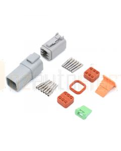 Deutsch DT6-3 6 Way Connector Kit with Nickel Contacts