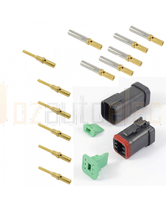 Deutsch DT6-4-CAT 6 Way CAT Spec Connector Kit with Gold Contacts