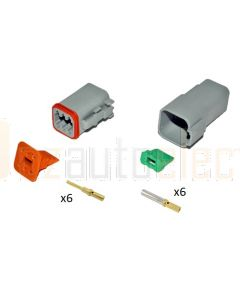 Deutsch DT6-4 6 Way Connector Kit with Gold Contacts