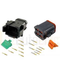 Deutsch DT8-4-CAT 8 Way CAT Spec Connector Kit with Gold Contacts