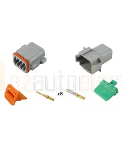 Deutsch DT8-4 8 Way Connector Kit with Gold Contacts