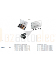 Deutsch DT Series 90 Degree Back Shell Assortment Kit