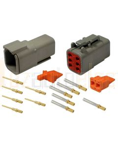 Deutsch DTM Series 6 Way Connector Kit with Gold Contacts