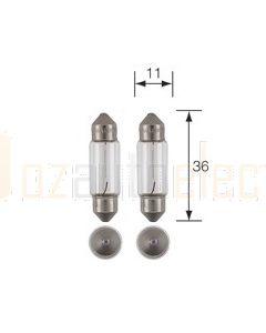 Narva 47653BL Festoon Globes 24V 5W SV8.5-8 Blister (2)