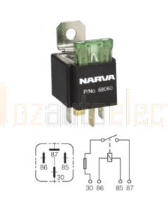 Narva 68060BL 12V 30 Amp 4 Pin Fused Relay