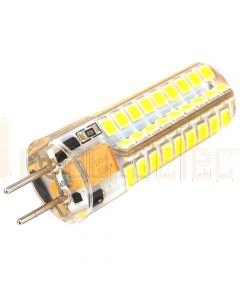 12V AC/DC GY6.35 72 SMD LED Bulb to suit Powa Beam Halagen Spotlights with Bi Pin Globe