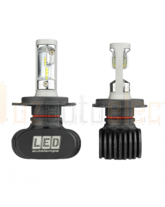 LED H4/4000LM Autolamps Multivolt 9-32V, Blister Twin H4 LED Headlight Bulbs