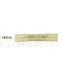 Quikcrimp HDC49 Yellow 12-10AWG Heatshrink Solder Splices Pack of 100