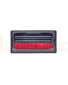 Hella Marine 2JA004192-041 10W Surface Mount Lamp with Switch - 12V, Black Housing (Red Lens)
