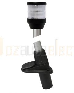Hella 2LT995002-041 2 NM All Round White / Anchor Lamps with Plug-in Pole Mount - 12V, 24inch / 610mm Black Housing