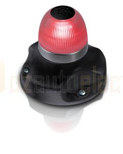 Hella 2LT980910-501 2 NM BSH NaviLED 360 All Round Red Navigation Lamps, Surface Mount - Black Base