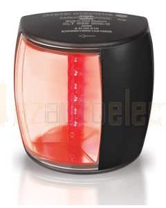 Hella 2LT959900-601 2 NM BSH NaviLED PRO Port Navigation Lamp, Black Shroud - Ultra Heavy Duty Lens