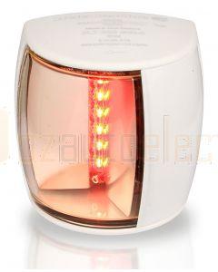 Hella 2LT959900-611 2 NM BSH NaviLED PRO Port Navigation Lamp, White Shroud - Ultra Heavy Duty Lens