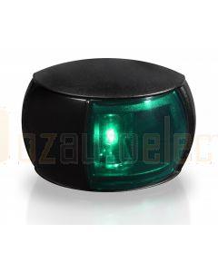 Hella 2LT980520-261 2 NM BSH NaviLED Starboard Navigation Lamp - Black Shroud, Coloured Lens (120mm Cable)