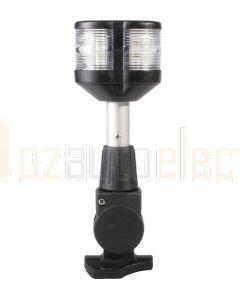Hella 2LT995003-021 2 NM Masthead / Anchor Navigation Lamp, Fold Down Base - 12V, 8inch / 204mm, Black Housing